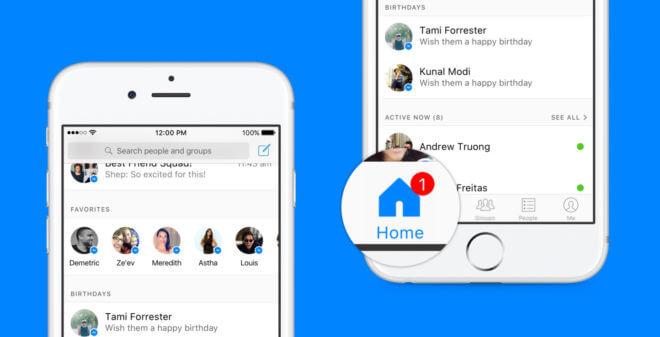 dv-c facebook messenger Facebook Messenger Facebook Messenger: Startseite wird komplett umstrukturiert Facebook Messenger 660x337