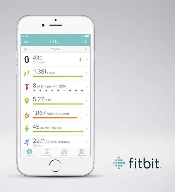 Fitbit Alta Fitbit Alta unter der Lupe – der elegante Fitnesstracker der zum Training zwingt Fitbit Alta Fitbit App iOS Dashboard 603x660