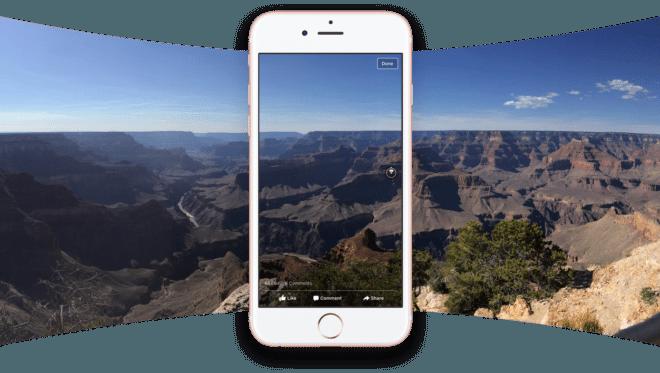 dv-c facebook 360 grad fotos aufnahmen Facebook Facebook schaltet weltweit neue Posting-Funktionen frei grand canyon full screen panorama 660x373