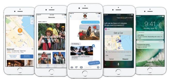 iOS 10 iOS 10 – der größte Schritt in der iOS Geschichte den es jemals gab iPhone Lockup Hero5Up PR PRINT 660x320
