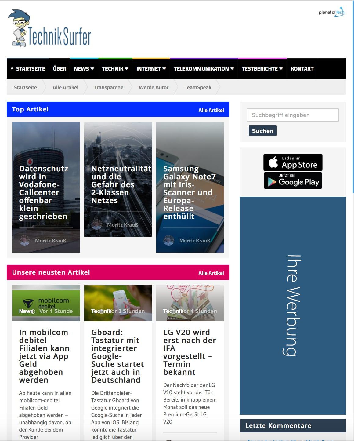 Werbeformat: Halfpage Ad  Werben auf dem TechnikSurfer Halfpage Ad