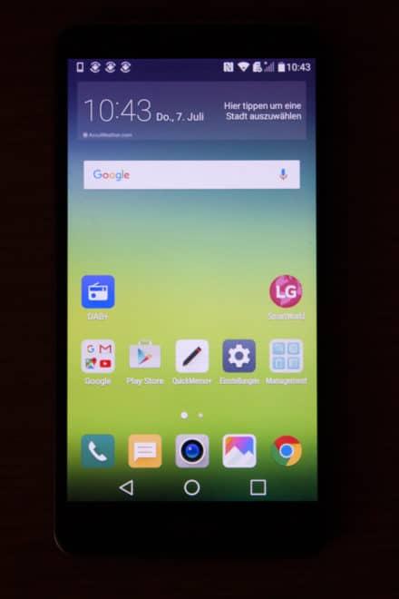 lg stylus 2 Getestet: Das LG Stylus 2 mit DAB+ – Smartphone mit medialer Zukunft LG Stylus2 Homescreen Seite1 440x660