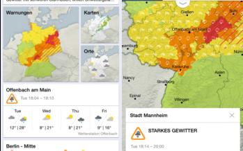 DWD WarnWetter: App für iOS und Android warnt noch genauer vor Unwetter