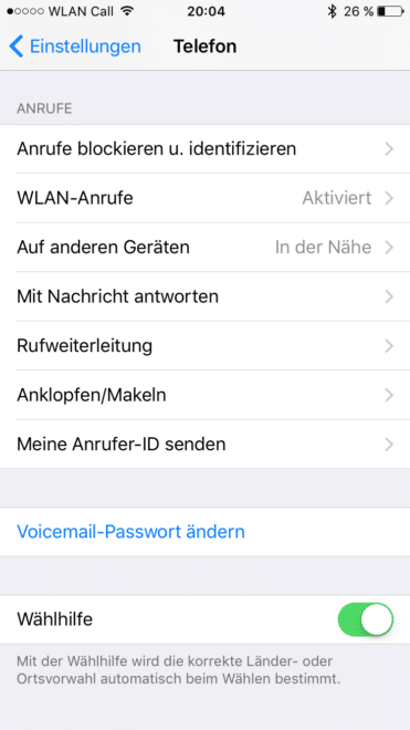 w-lan call Telekom schaltet iPhones für W-LAN Call frei IMG 1374 371x660