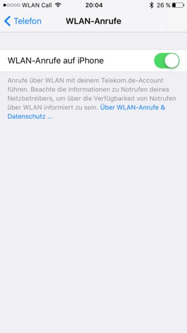 w-lan call Telekom schaltet iPhones für W-LAN Call frei IMG 1375 371x660