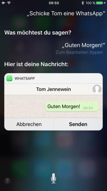 whatsapp WhatsApp bekommt Siri Integration für iOS 10 IMG 1377 371x660