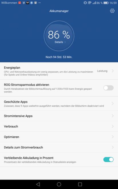 mediapad m3 Testbericht: Huawei MediaPad M3 – der neue iPad Killer? Screenshot 2016 11 07 16 59 24 413x660