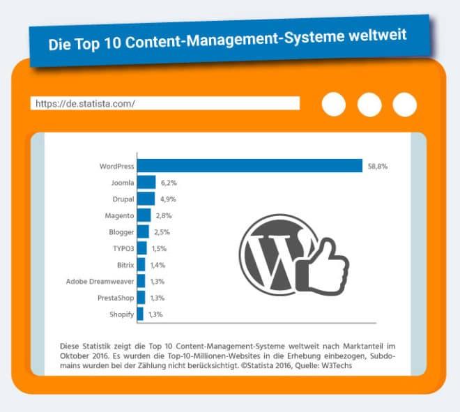 wordpress-hosting-infografik-de wordpress WordPress meistgenutztes CMS – Vorteile für jeden Nutzer Wordpress Hosting Infografik DE 1 660x591