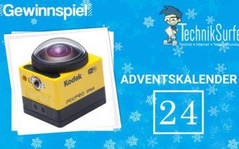 Adventskalender Tag 24: fröhliche Weihnacht überall – mit einer 360 Grad Actioncam