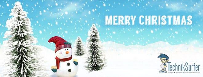 weihnachten Merry Christmas vom ganzen TechnikSurfer Team Merry Christmas 2016 660x251