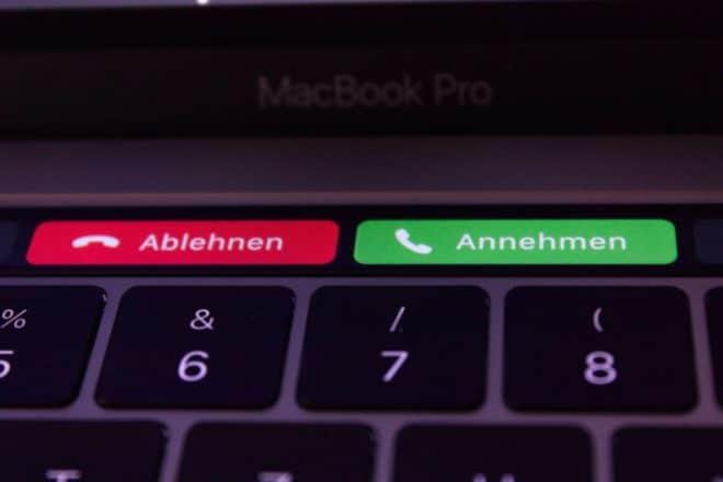 macbook Angetoucht: Das MacBook Pro mit Touch Bar im Test TouchBar Anruf ablehnen oder annehmen 660x440