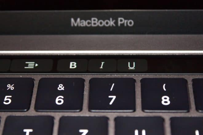 macbook Angetoucht: Das MacBook Pro mit Touch Bar im Test TouchBar B I U 660x440