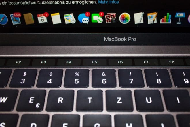 macbook Angetoucht: Das MacBook Pro mit Touch Bar im Test TouchBar F Tasten 660x440