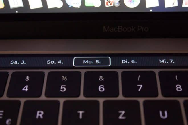macbook Angetoucht: Das MacBook Pro mit Touch Bar im Test TouchBar Kalender Tage 660x440