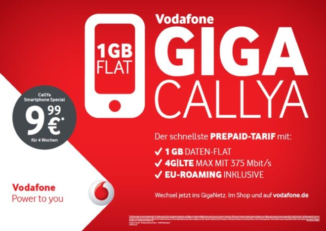 vodafone Vodafone stockt nächste Woche CallYa Tarife auf [UPDATE] Vodafone CallYa 2017 Datenplus 660x467