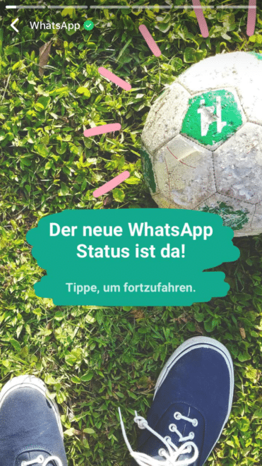 whatsapp Der 24-Stunden-Status: WhatsApp snapchattet ein bisschen WhatsApp Status Beispiel 371x660