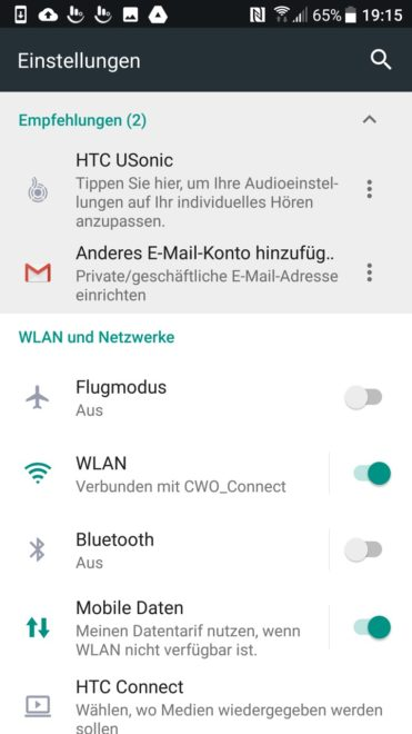 28 - HTC Ultra - Screenshot Einstellungen htc u ultra Das HTC U Ultra im Test – riesiges Smartphone ohne Killer-Feature 28 HTC Ultra Screenshot Einstellungen 371x660