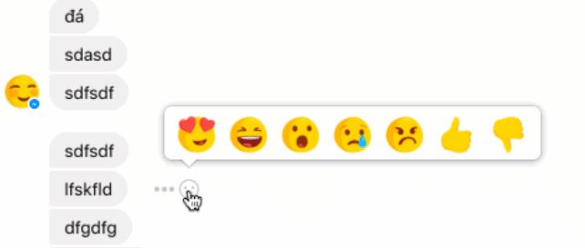 Reactions im Facebook Messenger Facebook Facebook: Reactions und Dislike im Messenger, erste Fake News werden gekennzeichnet facebook messenger reactions