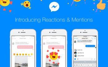 Facebook Messenger: Reactions und Erwähnungen treffen ab heute ein