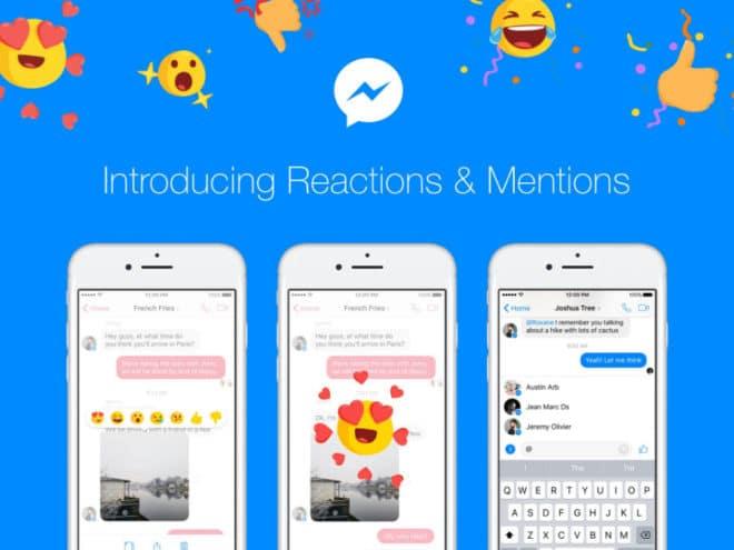 Facebook Messenger - Reactions Facebook Messenger Facebook Messenger: Reactions und Erwähnungen treffen ab heute ein fb messenger reme 660x495
