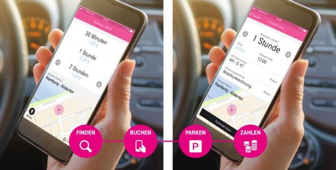 telekom CeBIT 2017: Telekom startet App für vernetztes Parken mit neuem Netz für IoT Geräte telekom park and joy 660x335