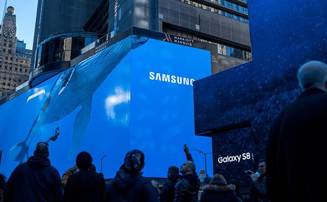 Samsung Samsung Pay Samsung Pay erreicht weitere europäische Länder 1 Timesquare OOH