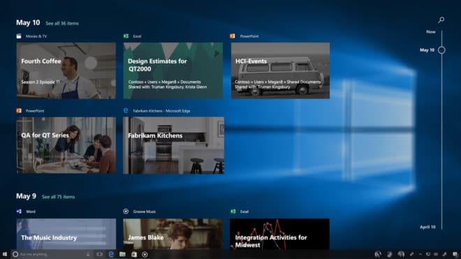 Windows 10 Fall Creators Update Windows 10 Windows 10 Fall Creators Update mit neuem Design angekündigt Build 2017 Windows Timeline