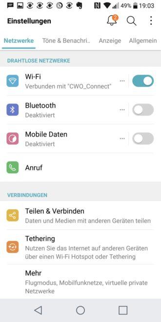 LG G6 Screenshot Einstellungen lg g6 LG G6 im Test – das ultimative Flaggschiff ohne Knall-Effekt LG G6 Screenshot Einstellungen 330x660