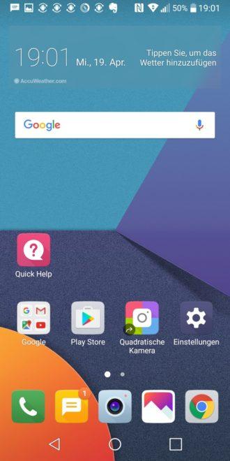 lg g6 LG G6 im Test – das ultimative Flaggschiff ohne Knall-Effekt LG G6 Screenshot Homescreen 1 330x660