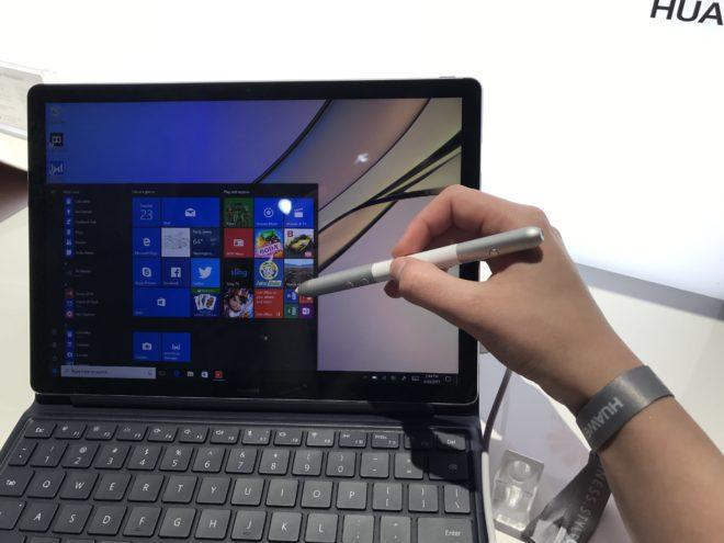 Huawei MateBook E huawei Kurz ausprobiert: Die neuen MateBooks im Hands-On MB E mit Stift e1495555315529 660x495
