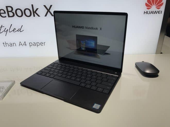 MateBook X geöffnet - S. Rehm / TechnikSurfer  X, E, D: Huawei stellt neue MateBooks vor MateBookX auf 660x495