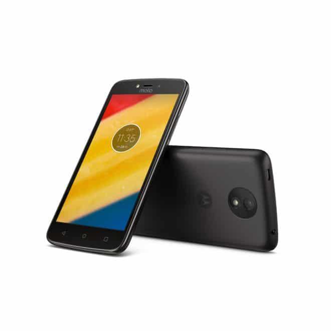Lenovo Moto C Plus Moto C Lenovo stellt neue Einsteiger-Smartphone Moto C und Moto C Plus vor Moto C Plus Starry Black Front Back