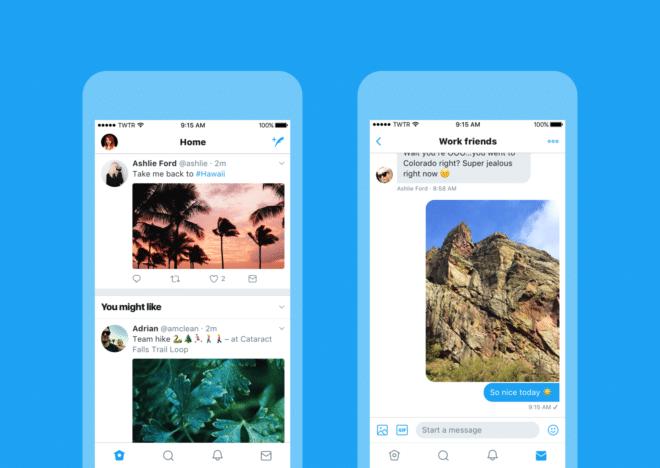 Twitter bekommt neues Design twitter Twitter bekommt neues Design – Apps gehen voran Check new look iOS Timeline and DM