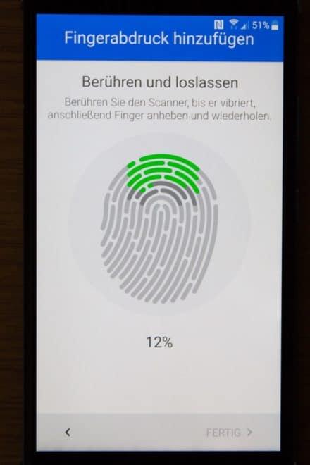 htc u11, htc, htc u HTC U11 im Test: Groß, stark und scharf Screenshot Installation Fingerabdruck 3 440x660