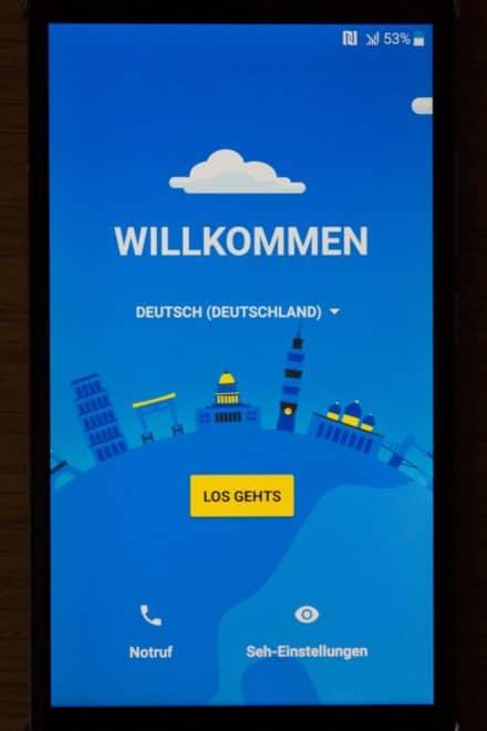 htc u11, htc, htc u HTC U11 im Test: Groß, stark und scharf Screenshot Installation Willkommen 440x660