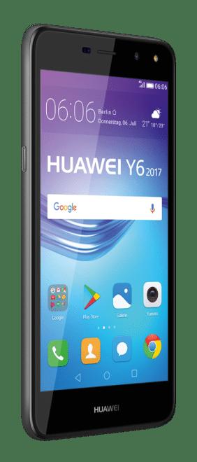 Huawei Y6 huawei y Y7 und Y6: Huawei stellt neue Einsteiger-Smartphones vor Y6 2017 Black front 45 right GER 282x660