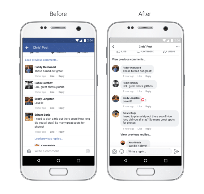 Neues Facebook App Design 2017 facebook Facebook App: Neues Design für iOS und Android Facebook Design Kommentare 660x629
