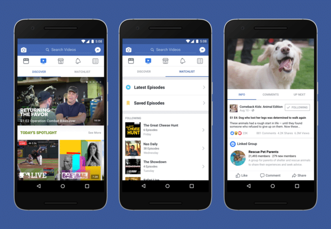 Facebook Watch facebook Facebook-Videoplattform Watch soll proffessionelle Video-Inhalte bieten Facebook Watch 660x457