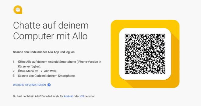 Google Allo for Web google allo Messengergespräche: Google Allo for Web jetzt verfügbar Google Allo Web 660x350