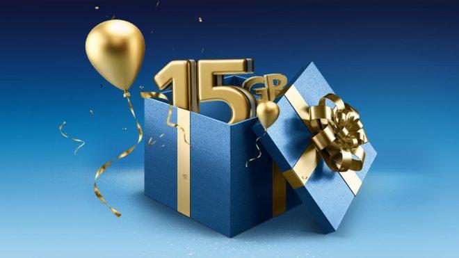 15 Jahre O2  YOUbiläum: O2 schenkt allen Kunden vier Wochen lang 15 GB Datenvolumen o2 15 Jahre 15 GB geschenkt Original 16zu9 1067x600 660x371