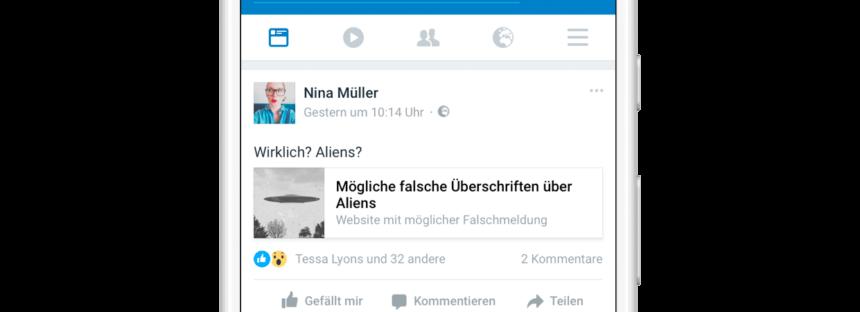 Facebook geht nun auch in Deutschland gegen Fake News vor – mit Related Articles
