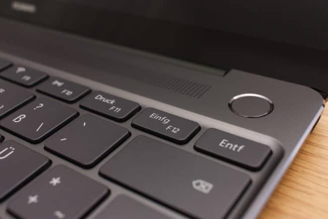 Huawei MateBook X huawei matebook Test: Huawei MateBook X – Kann Huawei auch Notebooks? 12 Fingerabdrucksensor 660x440