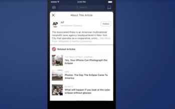Wegen Fake News: Facebook führt Informationen zu Artikeln ein und verbündet sich mit Wikipedia