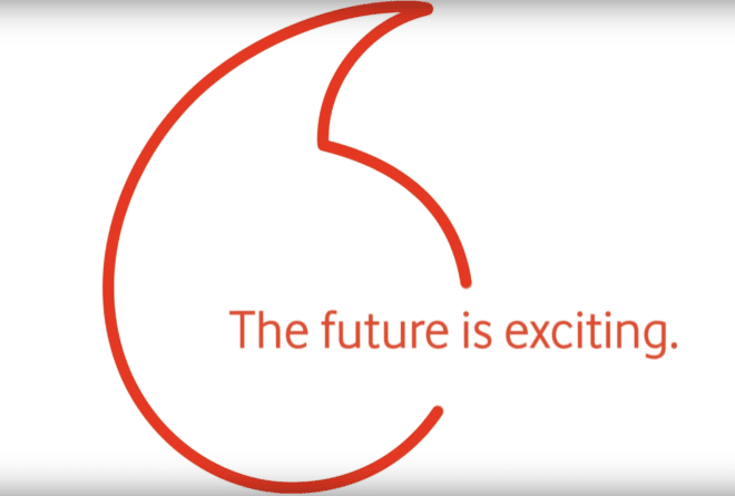 "Vodafone - ""Future is exciting"" vodafone ""Future is exciting"": Vodafone ab morgen in neuem Look Vodafone Logo 2017 future exciting 660x445"