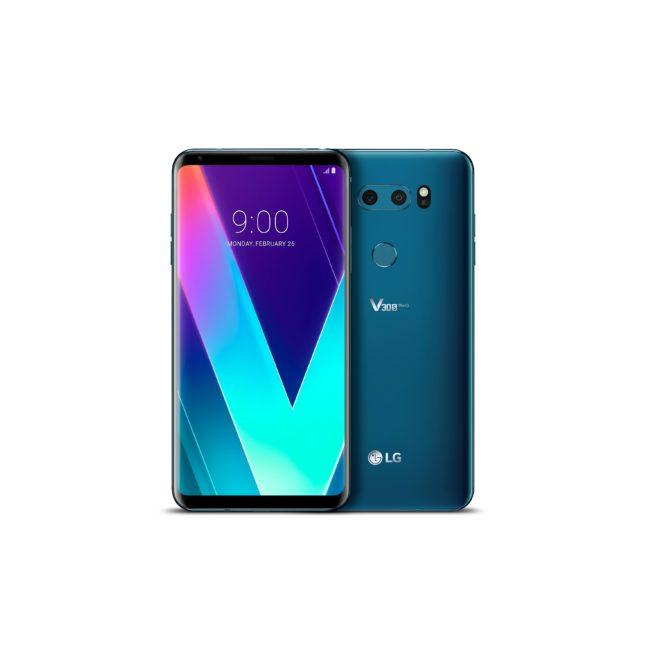 LG V30S  MWC 2018: LG V30S soll mit ThinQ durch künstliche Intelligenz zum neuen Wunderkind werden Bild V30S ThinQ New Moroccan Blue 2 651x660