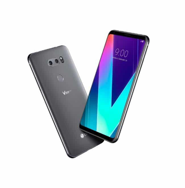 LG V30S  MWC 2018: LG V30S soll mit ThinQ durch künstliche Intelligenz zum neuen Wunderkind werden Bild V30S ThinQ New Platinum Gray 1 651x660